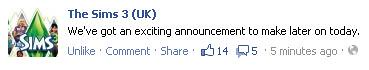 An Exciting Sims 3 Announcement?