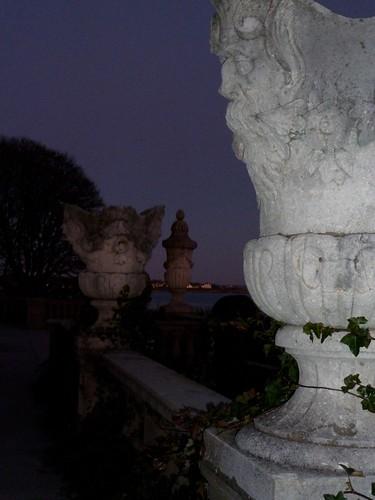 Garden Urns at Twilight