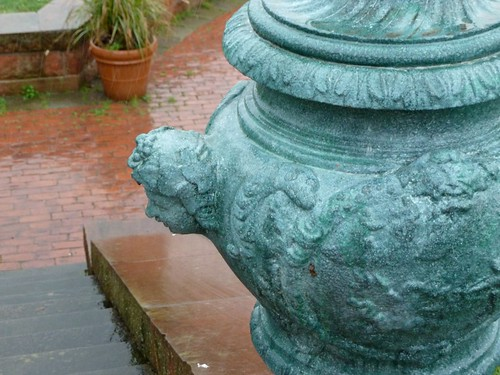 Detail of Urn visible in foreground of previous photo