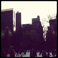 Hi ice skating. #weekendinnyc