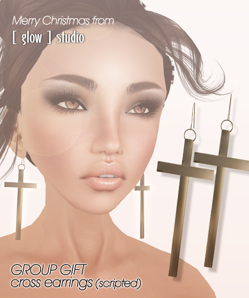 [ glow ] studio - Cross earrings
