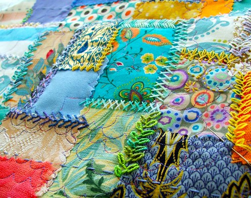 embroidered patchwork
