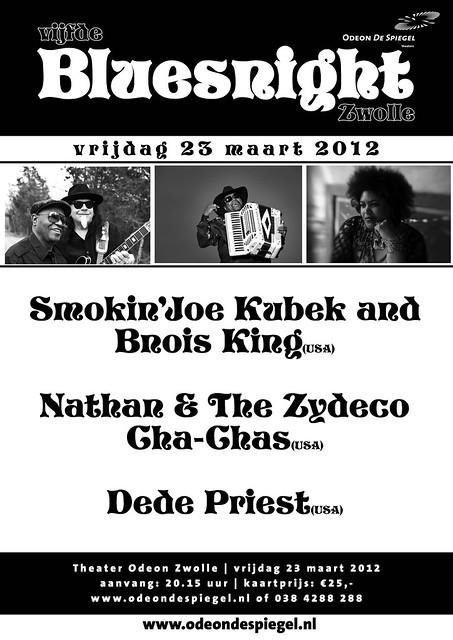 poster bluesfestival Zwolle 2012