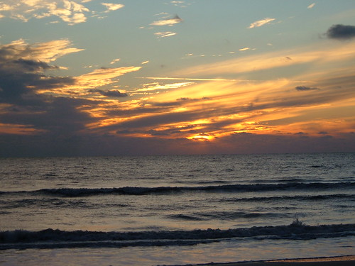 Sunset over the Gulf of Mexico from Tampa Florida