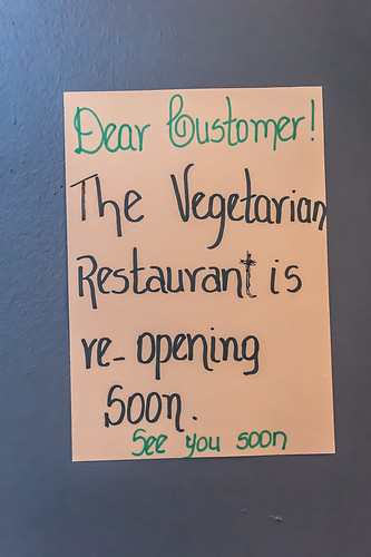 The Vegetarian Restaurant Is Re-Opening Soon by infomatique