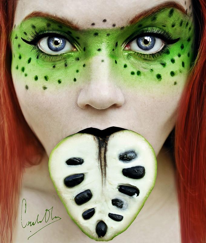 Fresh-Tutti-Frutti-Self-Portraits-By-Cristina-Otero