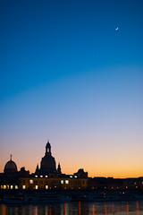 Frauenkirche bei Sonnenuntergang