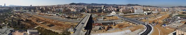 Panorámica de las obras de la futura estación de La Sagrera - 30-01-12