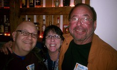 Steve, Judy, and Shel Israel at the Tel Aviv Beer TweetUp in 2011.