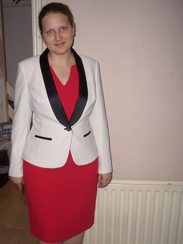 Biubiu Red Town Dress
