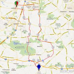 03. Bike Route Map. Cranbury NJ
