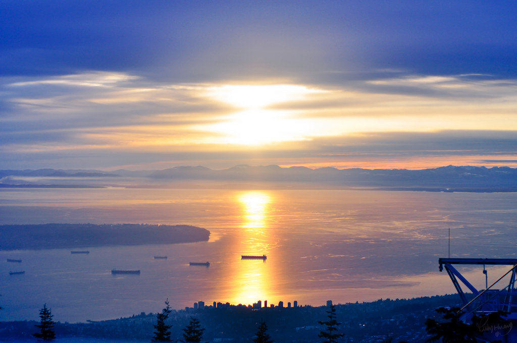 Sunset from Grouse Mountain
