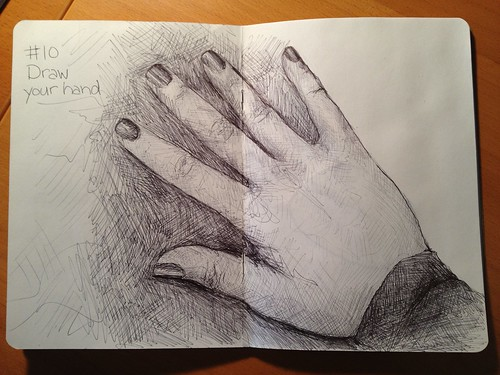 Sketchbook Project/EDM #10 Draw your hand