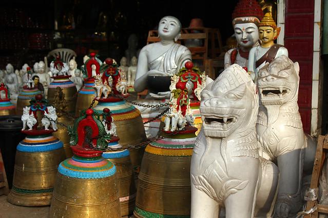 A shop near the East Gate, Swedagon Pagoda, Yangon