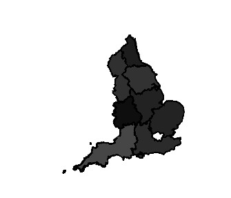 Thematic map via augmented shapefile in R