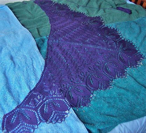 Chicago shawl close up 2