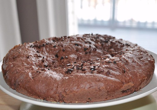 Cocoa Yoghurt Cake with Cocoa Nibs