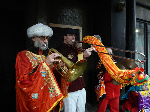 Chinese New Year musicians