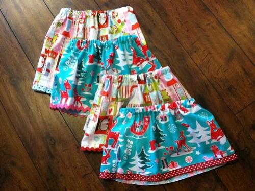 tiny christmas play skirts