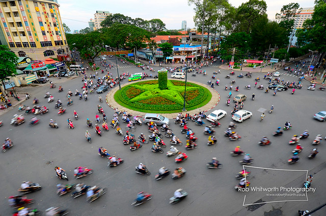 Intersection, Saigon, Vietnam