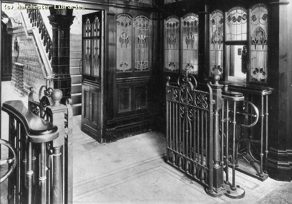 Victoria Baths, entrance to washing and swimming baths, 1905