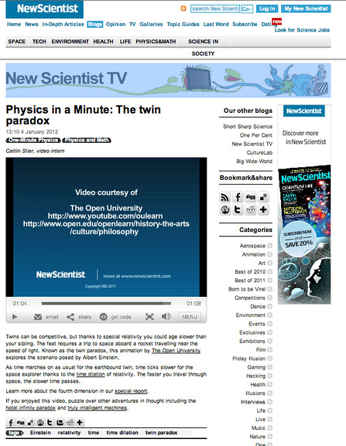 OU youtube ads being in New Scientist context