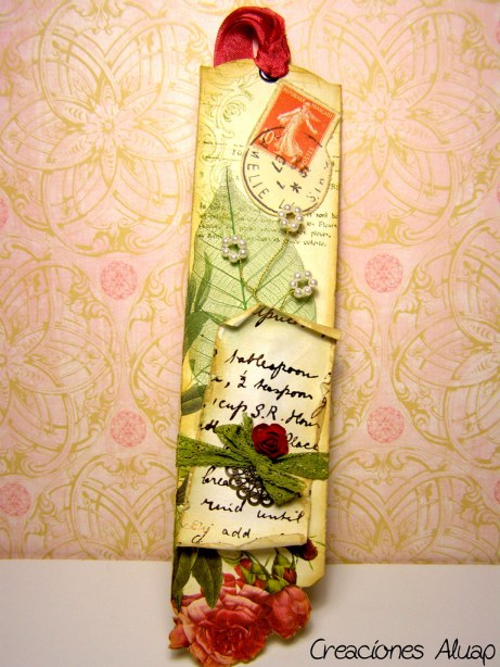 Marcapaginas romantico - Romantic bookmark