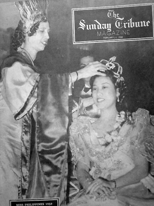Lumen's coronation as the 1939 Manila Carnival Queen was the cover of the Sunday Tribune Magazine in February 1939.