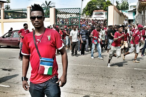 Nzalang Nacional Fans at Ticketing for Game 1 of the Africa Cup of Nations 2012