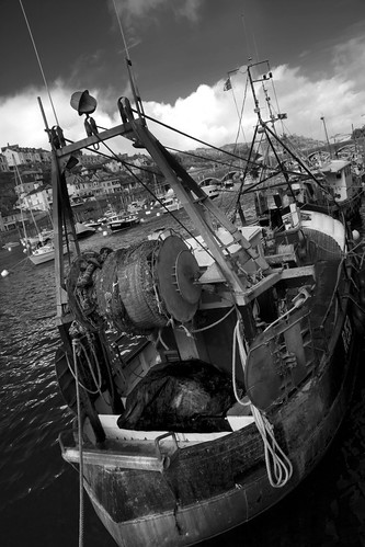 Fishing Boat in Looe BW