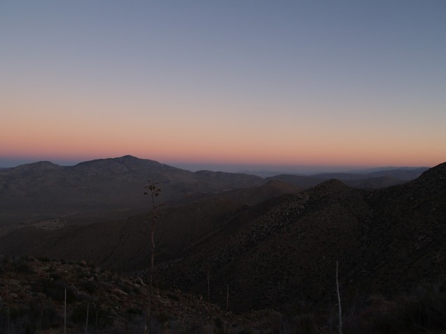 Sunset happened while we were still high on the ridge.