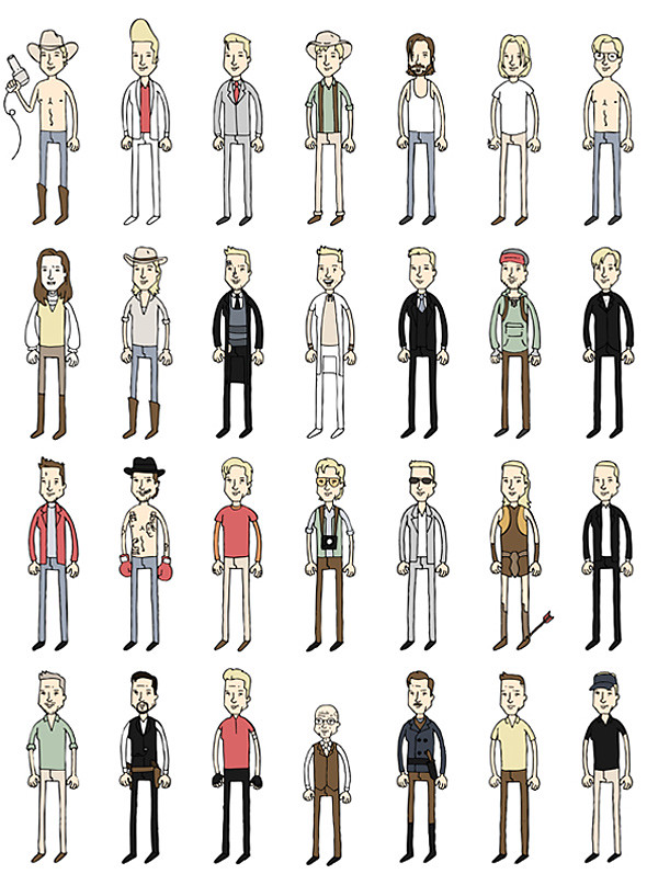 Todos os personagens de Brad Pitt