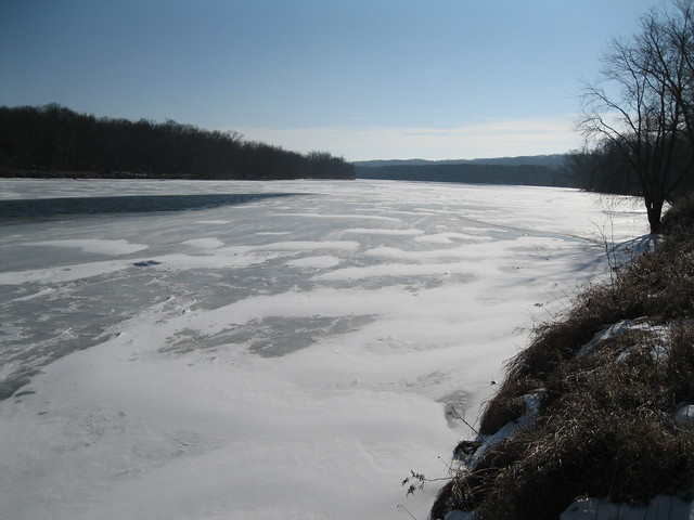 St. Croix River in winter