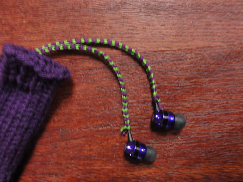 Embroidery floss wrapped ear buds