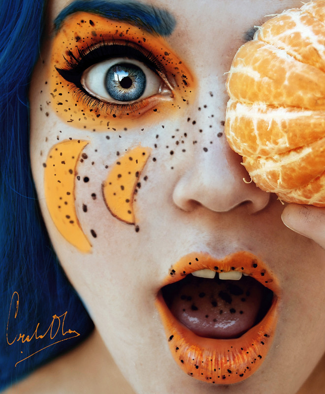 Fresh-Tutti-Frutti-Self-Portraits-By-Cristina-Otero