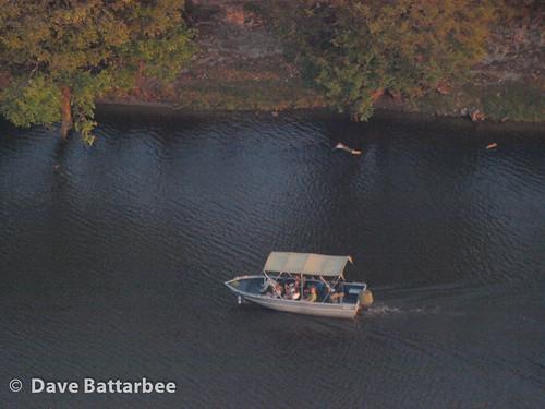 Chobe River tourist boat.