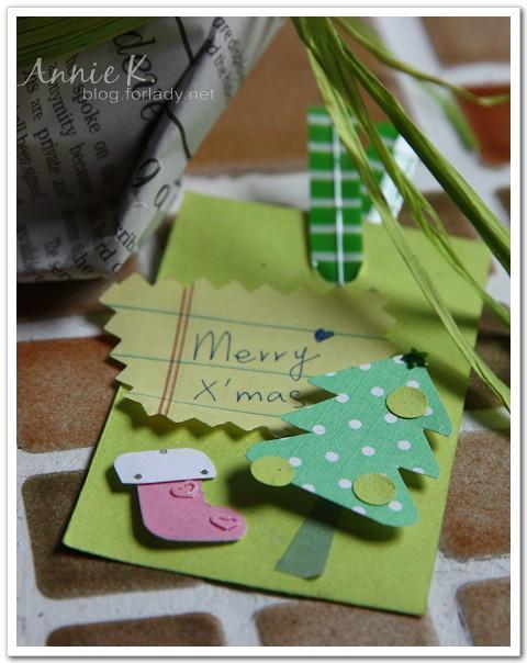 耶誕快樂自製小卡