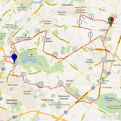 06. Bike Route Map. Cranbury NJ