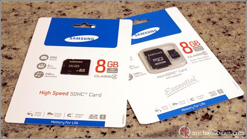 Samsung SDHC and microSDHC Cards