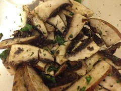 marinating portobello mushrooms