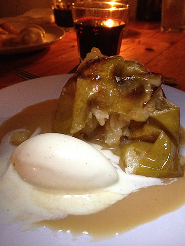 Roasted Apple & Vanilla Ice Cream, Chef Ludo's Un Petit Porc Dinner