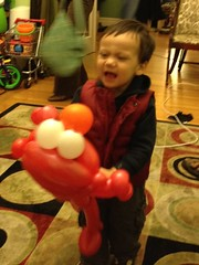 Reed talking to Elmo