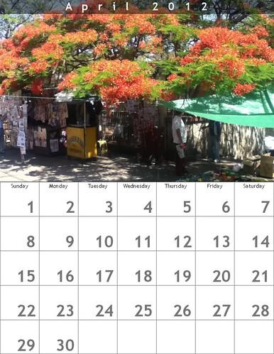 Oaxaca Calendar 2012: April