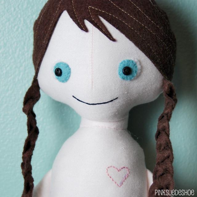 angel doll heart