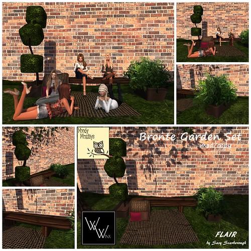 W.Winx&Flair Bronte Garden Set - Choc ad MOODY MONDAY @ The Deck