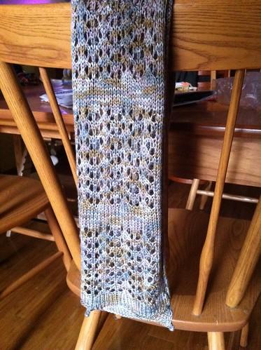 silvery scarf