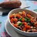 warmer süßkartoffelsalat mit champignons & mozzarella