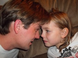 Daddy Daughter Stares
