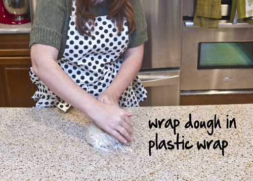 wrap up the dough