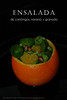 Ensalada de canonigos, naranja y granada